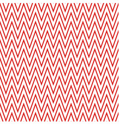 red zigzag pattern seamless background vector image