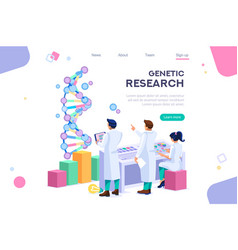 research genome concept graphic vector image