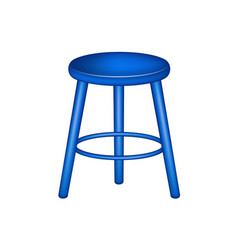 retro stool in blue design vector image