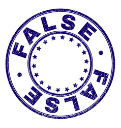 scratched textured false round stamp seal vector image