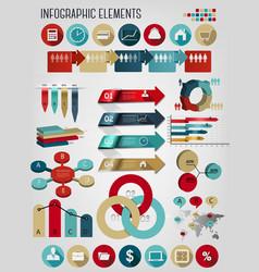 Set business infographics elements vector
