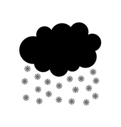 Snow cloud on white vector