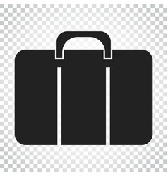 suitcase icon luggage in flat style simple vector image