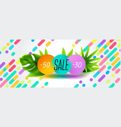 Summer sale discount end of season banner design vector