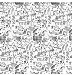 Supermarket seamless pattern vector