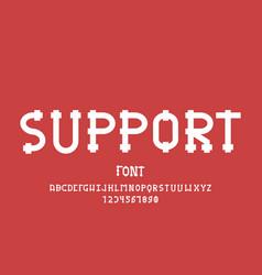 Support font alphabet vector