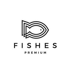 Three fishes logo icon vector