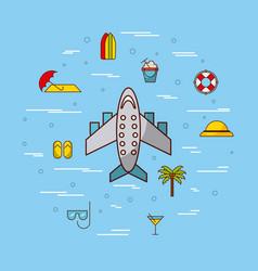 Travel relatd icons image vector