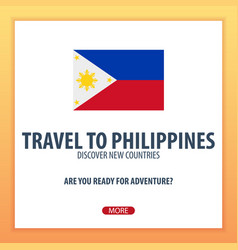 travel to philippines discover and explore new vector image