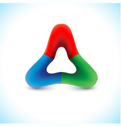 trigon sign triangle shape 3d logo vector image