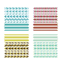 Underlines Simple colour lines Geometric vector