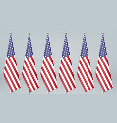 United states hanging flag on stand politic vector