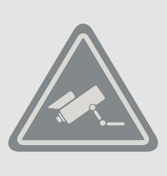Video surveillance sign vector