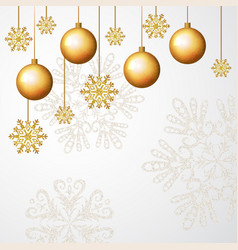white golden merry christmas banner background vector image