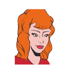 woman pop art comic vector image