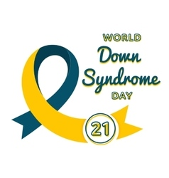 World Down Syndrome day greeting emblem vector