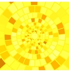 Yellow mosaic background vector