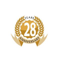 28 years ribbon anniversary vector image vector image