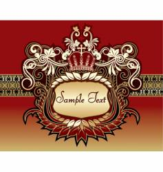 Beautiful background with gold pattern vector