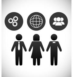 Communication design vector image vector image