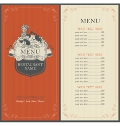 Frame menu with floral ornaments vector image vector image