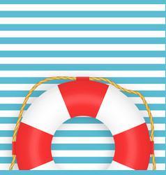 lifebuoy photo-realistic on vector image