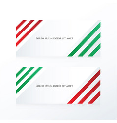 Line abstract banner red green vector