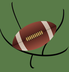 Rugby american football and abstract goal vector
