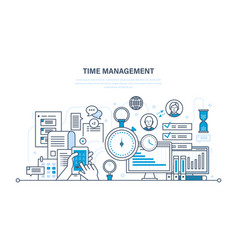 time management planning organization of working vector image