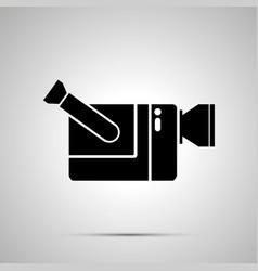 video camera silhouette simple black icon vector image