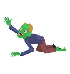 zombie creeps icon cartoon style vector image vector image