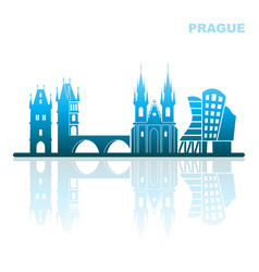 attractions prague abstract landscape vector image