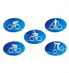 bicycle icons vector image