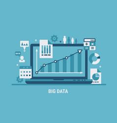 big data analyzing vector image vector image