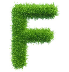 capital letter f from grass on white vector image