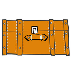 classic suitcase top view vector image