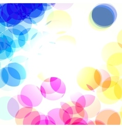 color bokeh transparent vector image