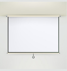 meeting projector screen empty white board vector image