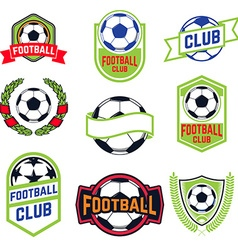Set of football emblems vector image vector image