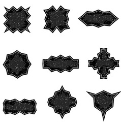 Set of worn banners in grunge style templates vector image