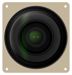 Camera lens shutter icon vector image