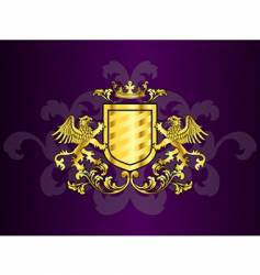 coat of arms with griffins vector image