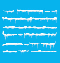 creative of ice icicle caps vector image