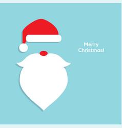flat santa head icon vector image vector image