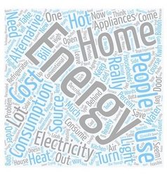Home energy l text background wordcloud concept vector