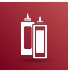 Ketchup mustard and mayonnaise logo icon food vector image