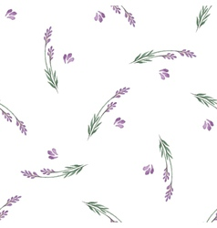 Lavender decorative seamless pattern vector image