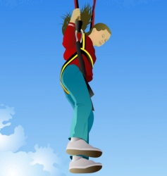 parachute jumper vector image