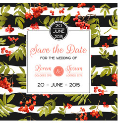 wedding invitation template floral greeting card vector image vector image