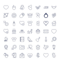 49 love icons vector